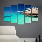 Декоративeн панел за стена с екзотичен морски изглед Vivid Home
