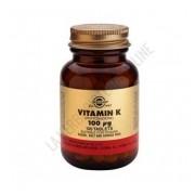 Vitamina K natural 100 mcg. Solgar 100 comprimidos