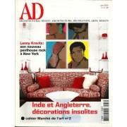 Ad Architectural Digest.Architecture,Decoration,Art,Design N° 33 : Inde Et Angleterre,Decoration Insolites