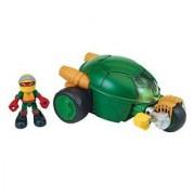 Teenage Mutant Ninja Turtles Pre-Cool Half Shell Heroes Stealth Cycle With Raphael Vehicle And Figure
