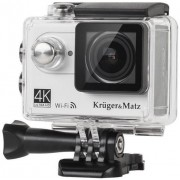 Camera Video de Actiune Kruger&Matz KM0197, Filmare 4K, Waterproof (Argintie)