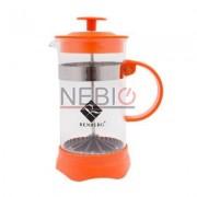 Infuzor din sticla pentru ceai sau cafea Renberg, Capacitate 350 ml, Portocaliu