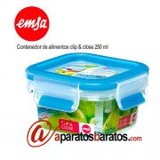 Emsa contenedor de alimentos clip & close 250 ml 508535