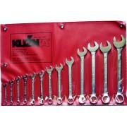 Kuźnia zestaw kluczy płasko-oczkowych 8-32 mm