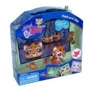 Littlest Pet Shop Postcard Pets Series Portable Bobble Head Pet Figure Gift Set #905 - Tiger with Mouse Toy, Scarf and Postcard by Littlest Pet Shop
