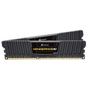 Corsair CML16GX3M2C1600C9 Vengeance LP Kit di Memoria da 16 GB, 2x8 GB DDR3L, Low Voltage 1600 MHz, CL9 XMP Performance, Nero
