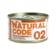 NATURAL CODE CAT 02 POLLO E GAMBERETTI 85GR