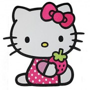 Application Hello Kitty with Strawberry Back Patch Action Figure