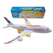 ToyZe® Bump and Go Action, Boeing 747 Airplane Toy, with Lights and Real Sounds.