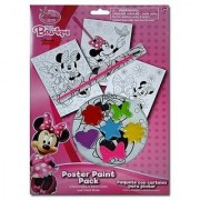Disney Minnie Mouse Bow-tique Paint Your Own Poster Kit - 10 Piece Set with Posters Paints and Brush for Art Fun
