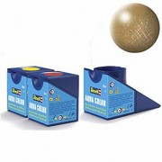 Revell Acrylics (Aqua) - 18ml - Aqua Brass Metallic - RV36192