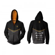 Fnatic Black 3XL Player Zipped Hoodie 2014