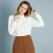 Wijde blouse met claudinekraag