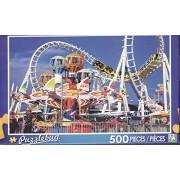 Puzzlebug 500 Piece Jigsaw Puzzle ~ Amusement Park Rides