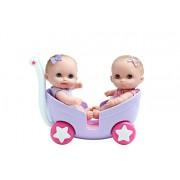 """JC Toys 8.5"""" Lil Cutesies Twins in Stroller"""