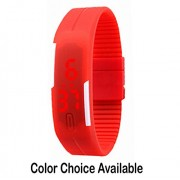 Infinxt Kids Digital LED Band Watch Red