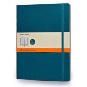 Moleskine Classic Colored Notebook, Extra Large, Ruled, Underwater Blue