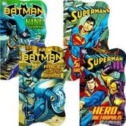 DC Comics Batman vs Superman Board Books for Toddlers - Set of Four Books (2 Batman Books 2 Superman Books)