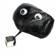 Super magie étrange magnétique Bouncing Toy Silly Putty w / Cube Magnet - Noir