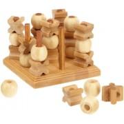Philos 3266 Green Games - Tic Tac Toe 3-D, gioco di strategia in legno di bambù (lingua tedesca)