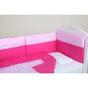 Posteljina sa ogradicom drap roze – Šarena bajka – Stefan