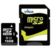 Nouva Vida IT 16GB Micro SDHC Scheda di Memoria per il Cellulare Samsung - I9500 Fraser - I9500 Galaxy S4 - I9505 Galaxy S4 - I997 Infuse 4G Tablet PCs - Garanzia a vita limitata - con Adattatore SD