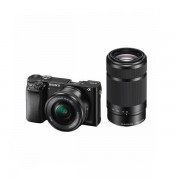 Aparat foto Mirrorless Sony Alpha A6000 24.3 Mpx WiFi NFC Black Kit 16-50mm si 55-210mm