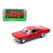 1965 Chevy Impala Ss396, Red Welly 22417 1/24 Scale Diecast Model Toy Car