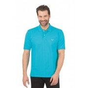 Trigema Herren Polo-Shirt DELUXE Piqué Größe: L Material: 100 % Baumwolle, Mako-supergekämmt Farbe: azur
