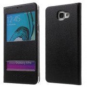 ELICA PURE LEATHER Premium Quality Flip Cover for Samsung Galaxy A9 Pro BLACK