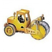 Steam Roller 3D Puzzle Colored by Discovery Bay Games