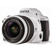 Aparat foto Pentax K-50 kit (obiectiv 18-55mm DAL WR), alb