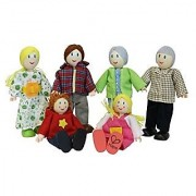 Hape - Caucasian Family Doll Set