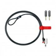 Cablu securitate notebook Kensington ClickSafe, otel, 1.50m lungime, 5mm grosime, capul de blocare permite pivotare 180grade si rotatii 360grade (K64637WW)
