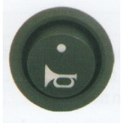 Comutator rotund Pornit/Oprit 12V cu dubla iluminare - Indicator claxon/goarna LED si indicator functionare