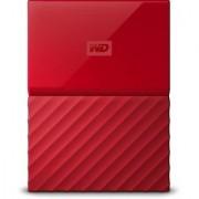WD My Passport 1TB Hard Drive (Red)