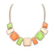 Colier Statement April Green and Orange