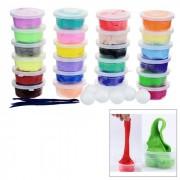 MAIKOU 24 colores no toxicos bricolaje educativo juguete de plastilina de arcilla suave - de varios colores