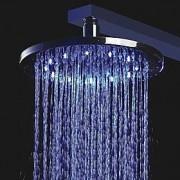 LightInTheBox Pommeaux Douche 8 pouces tête de douche en laiton avec des couleurs de lumière LED changeant