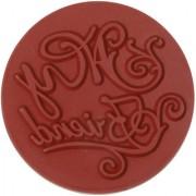 Magideal DIY Creative Vintage Round Wooden Seal Rubber Stamp(My Friend)