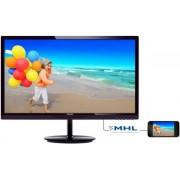 "Monitor LED Philips 28"" 284E5QHAD/00, Full HD (1920 x 1080), HDMI, 4 ms (Negru/Chery)"