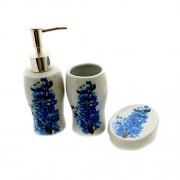 Set de baie cu dispenser de sapun, pahar si savoniera