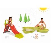 Set tobogan Smoby pentru copii Toboggan KS și nisipar cu stropitoare 310218-3