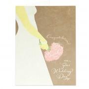 Congratulations! on your wedding day - Matthew 19:5, 6 - (Biblical Greeting Card)