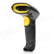 USB Handheld de 2.0 Visible Laser Barcode Scanner - Negro + Amarillo