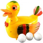 Battery Operated Musical Duck Lays Egg With Sound for kids