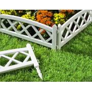 Gard decorativ pentru gradina -Alb