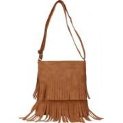 ANICKS Women Tan PU Sling Bag