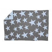 Lorena Canals BLW-B Wool Blanket Stars Dark Grey/Blue Blu
