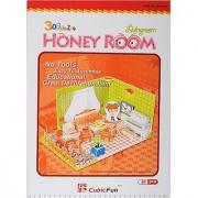 CubicFun C05101H Honey Room Series Living Room Puzzle